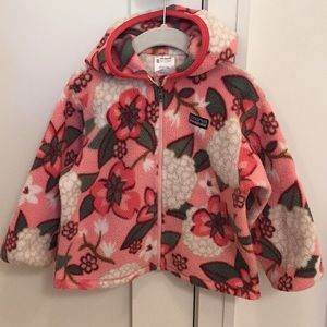 Patagonia Girls 3T Zip Up Fleece with Hood